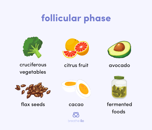 Nutrition in the follicular phase